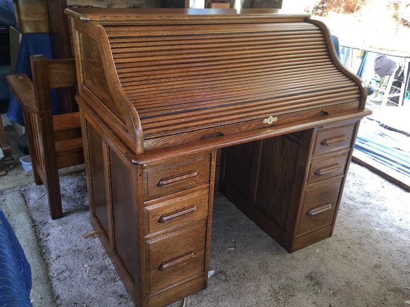 Roll Top Desk - Bryan Booth Fine Furniture Antiques & Restoration
