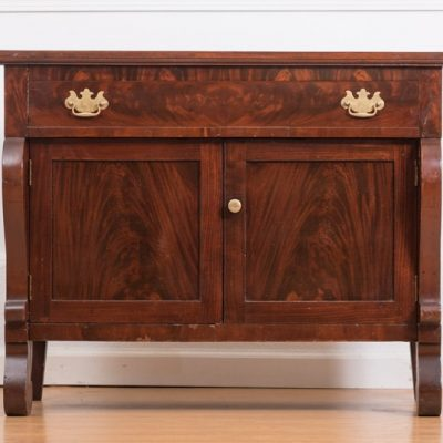 Mahogany-commode-storage-cabinet-American-empire