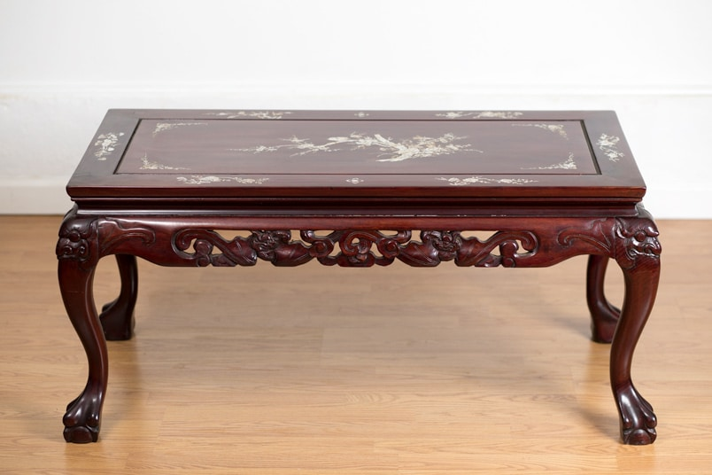 Superb Coffee Table In Rosewood With Mother Of Pearl Inlay Andrewgaddart Wooden Chair Designs For Living Room Andrewgaddartcom