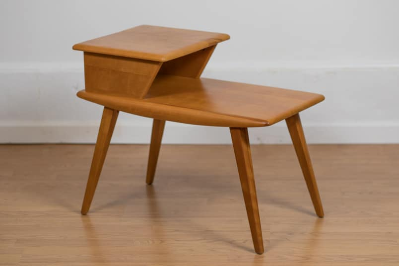 Surprising Birch Two Tiered Side Table By Heywood Wakefield Circa 1950 Ocoug Best Dining Table And Chair Ideas Images Ocougorg